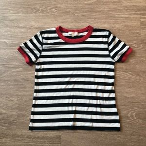 Truly Madly Deeply Striped Ringer Top